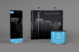exhibition graphics for Pulse Fitness
