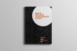 Telling your brand story book graphic